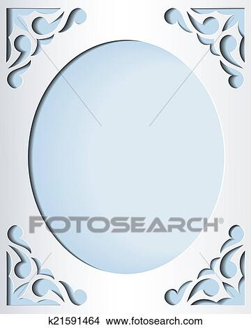 Stock Vector Vintage Background With Paper Border