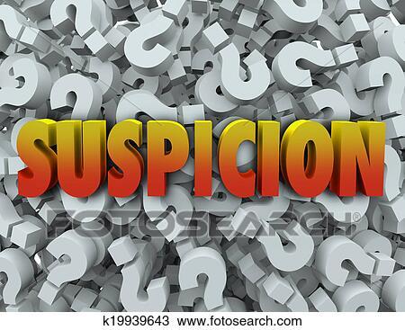 Banco de Imagem - suspeita, palavra, marca pergunta, fundo, maravilha, suspeito. Fotosearch - Busca de Imagens, Fotografia Poster, e Fotos Clip Art