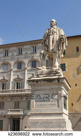 Colección de imágen - estatua, de, guiseppe, garibaldi, por, urbano, lucchesi, en, plaza, del, gi. Fotosearch