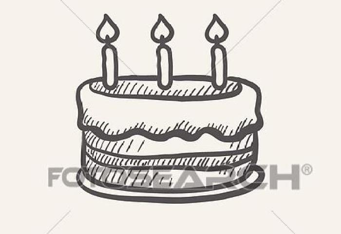 Birthday Cake With Candles Sketch Icon Clip Art K29268798 Fotosearch