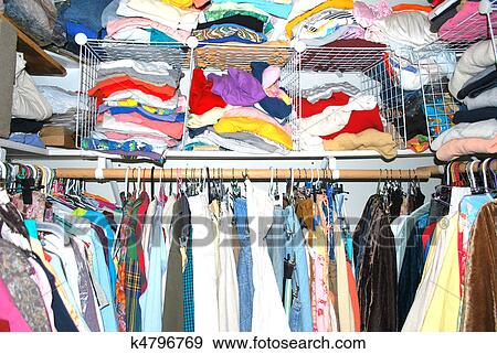 Image result for crowded clothes closet