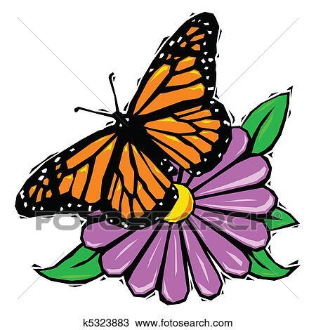 Butterfly Flower Clipart