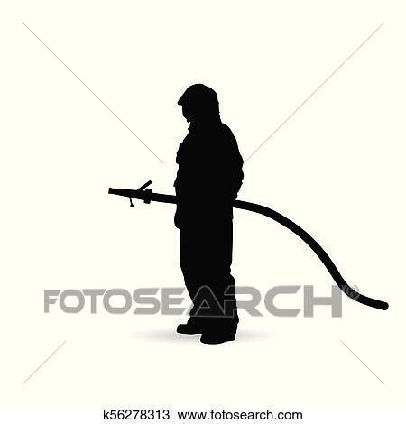 fireman silhouette clip art # 27