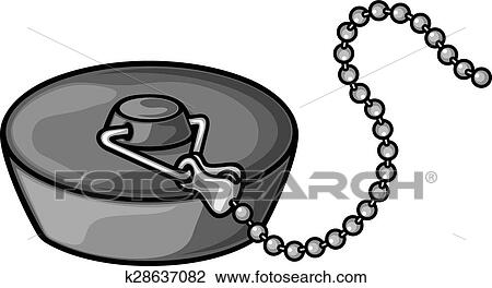 Clipart Of Bathroom Plug With Chain K28637082 Search