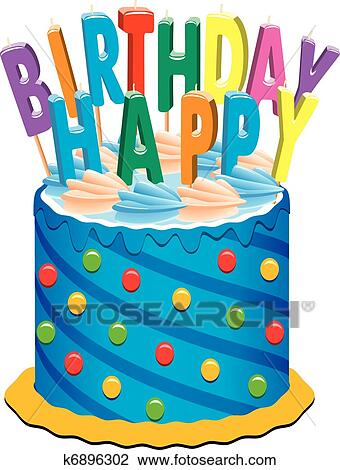 Birthday Cake Clipart K6896302 Fotosearch