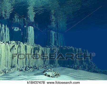 Stock Illustration Of 3D Ocean Floor K18437478 Search