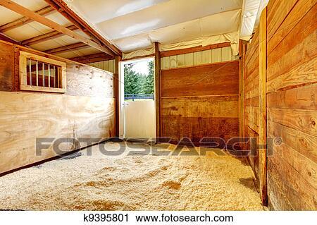banques de photographies cheval ferme vide ecurie interior