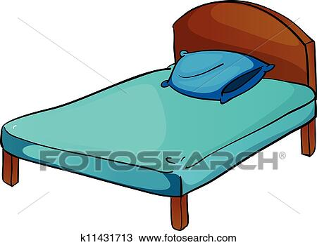 bed and pillow clipart k11431713