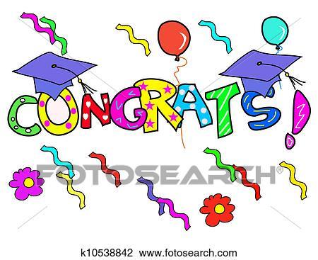 Congratulation! Drawing | k10538842 | Fotosearch