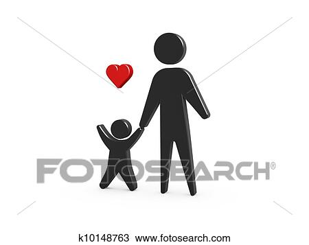 Download Family symbol Drawing   k10148763   Fotosearch