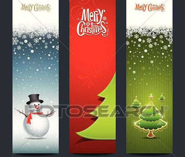 Clip Art Merry Christmas Banner Design Fotosearch Search Clipart Illustration Posters