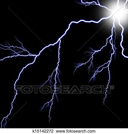 Clip Art Of Digital BackgroundElectric Flash Of Lightning