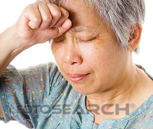 Mature Asian Woman Feel Headache