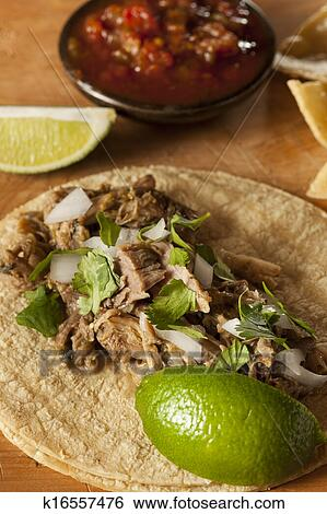 Stock Images Of Traditional Pork Tacos K16557476 Search