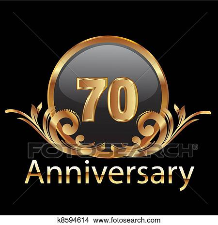 Download Clipart of 70 anniversary happy birthday k8594614 - Search ...