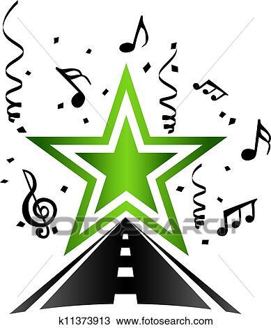 Clipart of Pop star k11373913 - Search Clip Art ... (389 x 470 Pixel)