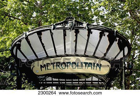 france art nouveau style metro