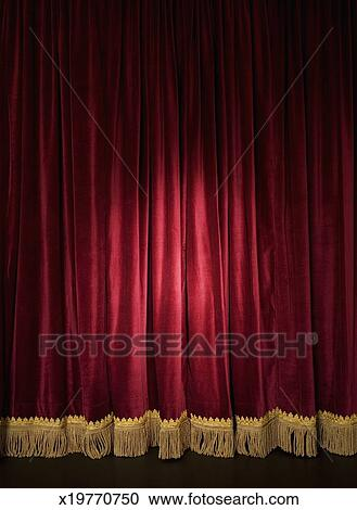 closed red curtain terat