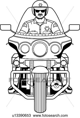 Clipart Of Motorcycle Cop U13390653 Search Clip Art
