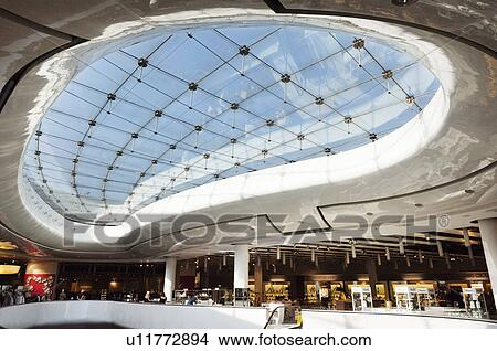 Stock Photo of England  West Midlands  Birmingham  Interior of the     England  West Midlands  Birmingham  Interior of the Selfridges building in  the Bullring shopping area of Birmingham
