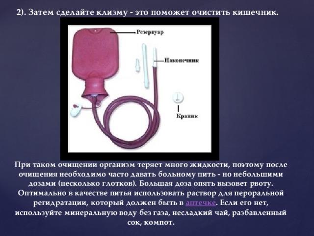 раствор для клизмы от простатита