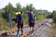 Paolo e Luigi durante il Campo Mobile in Toscana - 2009