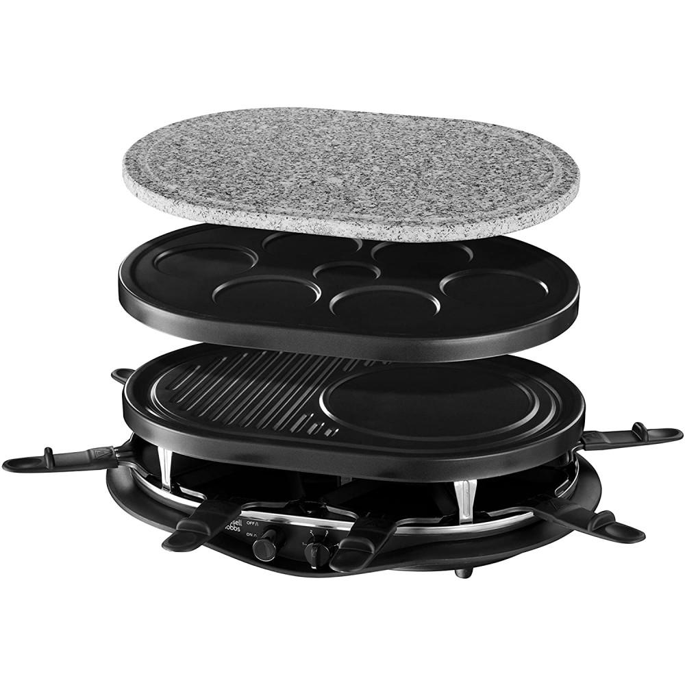 appareil raclette multifonctions quatuor 1200w 8 personnes pierre a griller plaque grill plaques crepes
