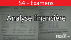 Analyse financière examens