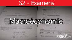 Examens Macroéconomie