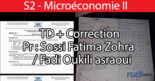 TD microéconomie 2