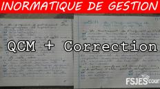 QCM Avec Correction informatique de gestion