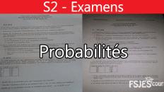 Probabilités examen