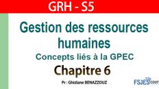 GRH cours complet s5 chapitre 6