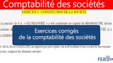 Comptabilité des sociétés exercices