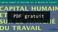 Capital humain et dualisme sur le marché du travail pdf