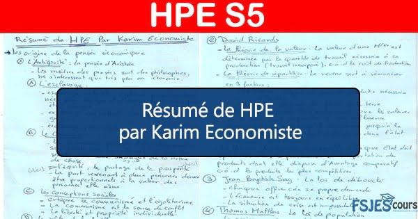 HPE résumé S5