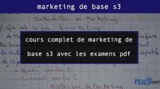 cours complet de marketing de base s3 avec les examens pdf