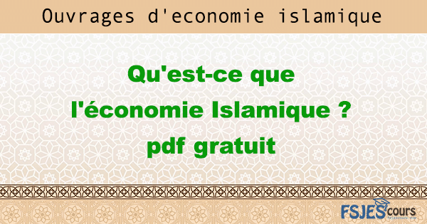 ouvrage de l'économie Islamique