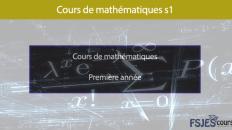 analyse mathématique s1