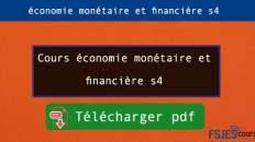 Cours économie monétaire et financière s4 pdf