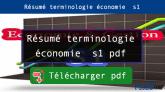 Résumé terminologie économie s1 pdf