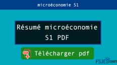 Résumé microéconomie S1