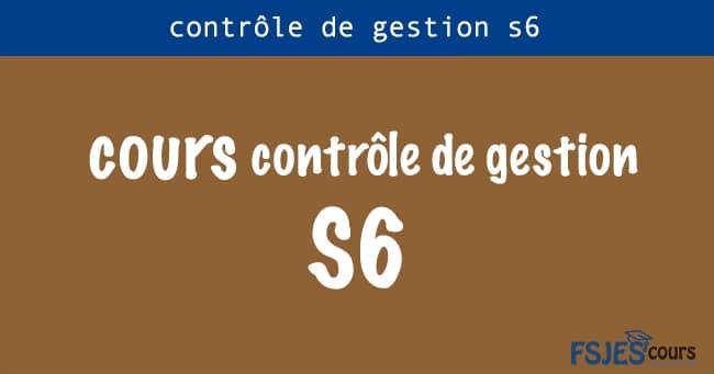 contrôle de gestion cours s6