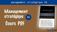 cours management stratégique s6