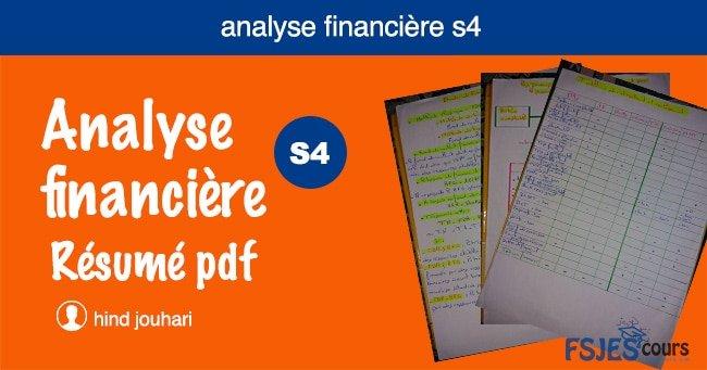 Analyse financière résumé