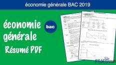 Résumé économie générale bac