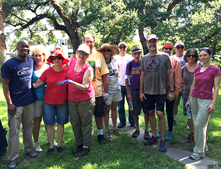 Just a few of the many wonderful Faubourg St. John neighbors who came out to keep Fortier Park the best pocket park in the city.