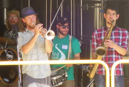 The Secondhand Street Band played for hours at Second Line Brewery at the after-party for the hike on the Lafitte Greenway March 5, 2016