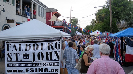 BASTILLE DAY CELEBRATION IN FAUBOURG ST. JOHN JULY 9th