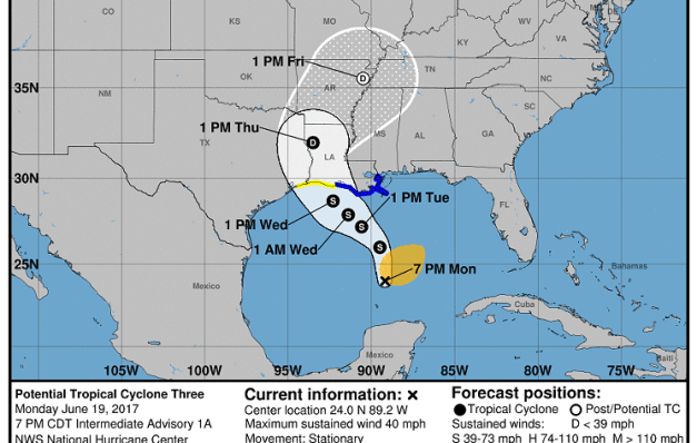 Gotta Have a Plan Man – Tropical Storm Cindy – Stay Steady But Be Ready
